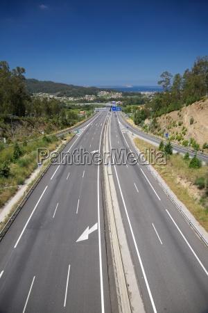 fahrt reisen spanien asphalt transport transportieren