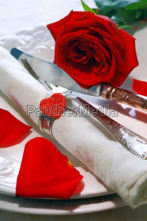 stilvolle valentinstisch table einstellung