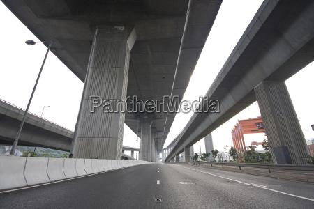 under the bridge urban scene