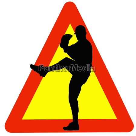 baseball player silhouette on traffic warning