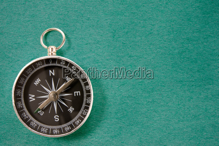compass on the blue background