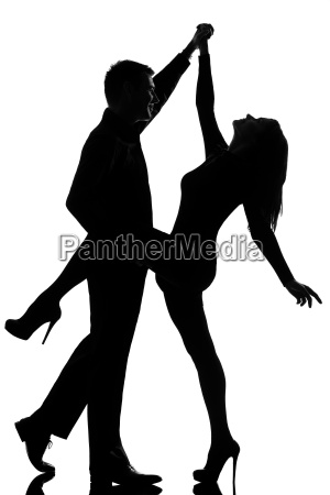 one couple man and woman dancing