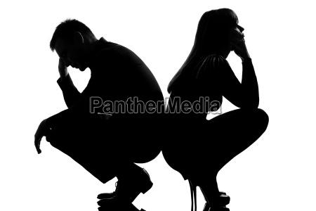 one dispute sad couple man and