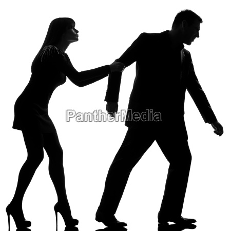 one couple dispute separation man leaving