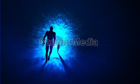 der tunnel zum licht blau