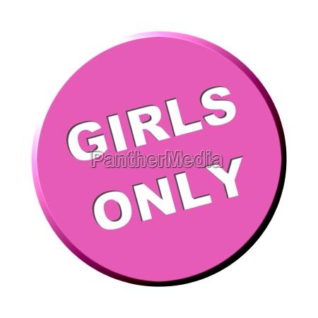 button rund pink girls only