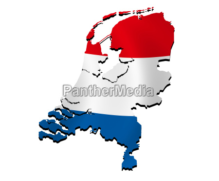 map netherlands with flag