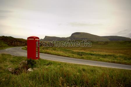 telefon telephon schottland landschaft natur