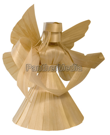 wooden angel sculpture