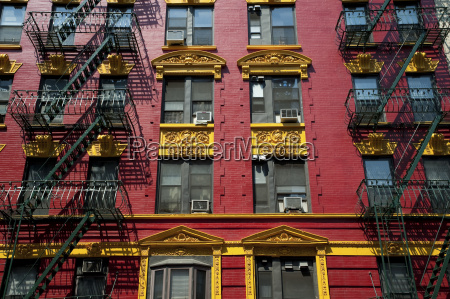 red and yellow brick apartment building