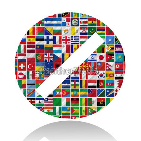 flaggen der welt mit icon set
