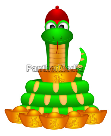 cute chinese new year snake with