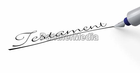 stift konzept testament