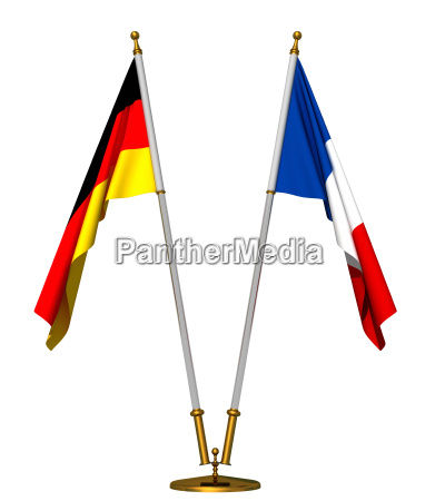 flaggen von deutschland und frankreich