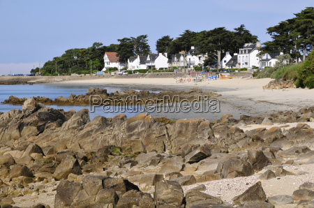 rock and beach of carnac in