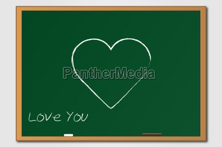 heart chalkboard illustration
