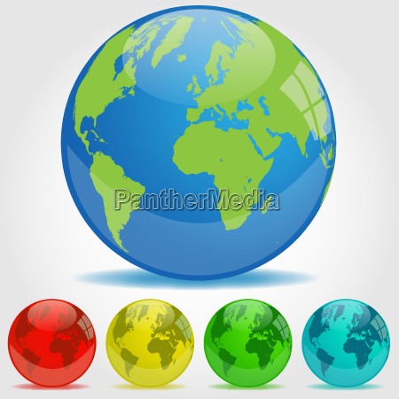earth globe illustration