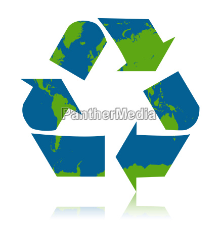 green recycle concept illustration