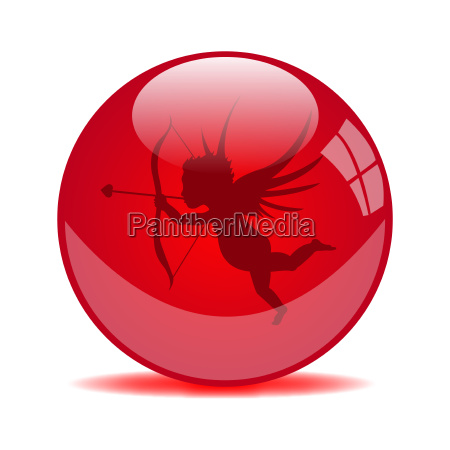 red cupid valentine orb