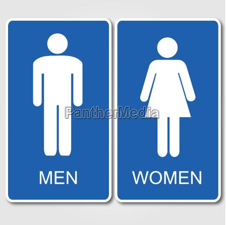 men and women restroom sign
