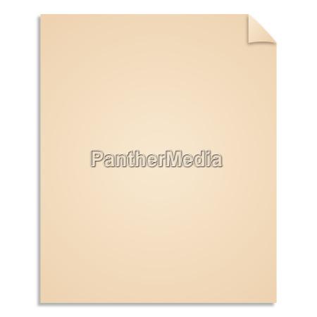 vintage vector blank paper