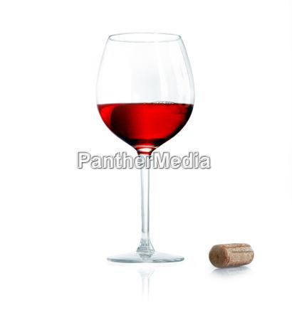 rotwein isoliert