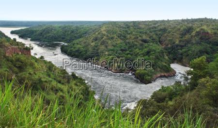 murchison falls panoramic view