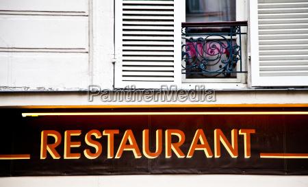 restaurant zeichen