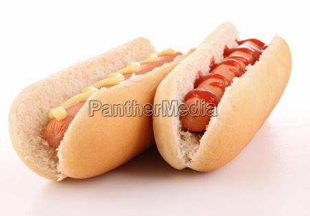 isoliert hot dog