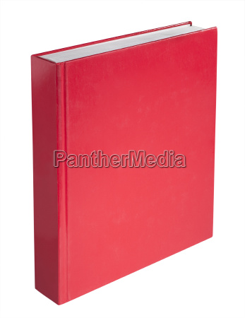 blank red book isolated