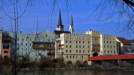 blick auf wasserburg am inn historische