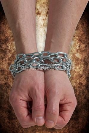 hand haende verbrecher unfrei gefangener verhaftung