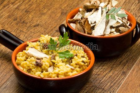 risotto mit safran und champignons