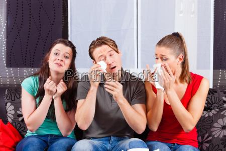 friends see a sad movie on