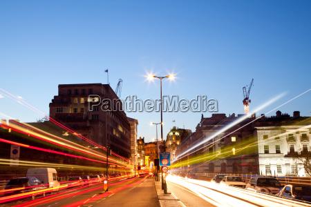 london light trail