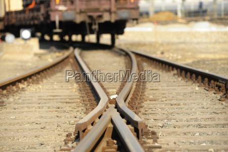 weiche schiene gleis gleisanlage schienennetz infrastrukur