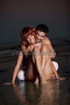 young couple having fun on the