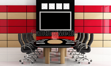 schwarze und rote tagungsraum