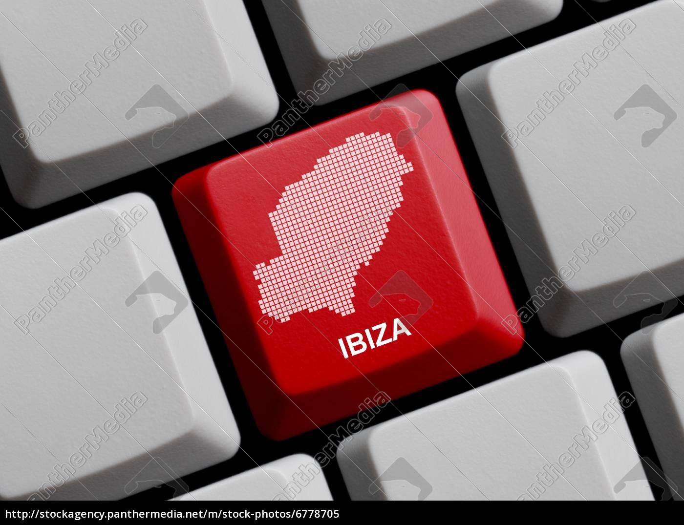 Ibiza Karte Umriss.Lizenzfreies Bild 6778705 Ibiza Umriss Auf Tastatur
