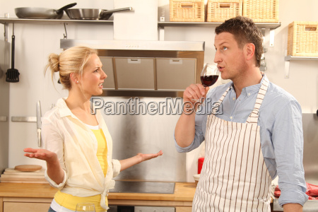quarrel while cooking