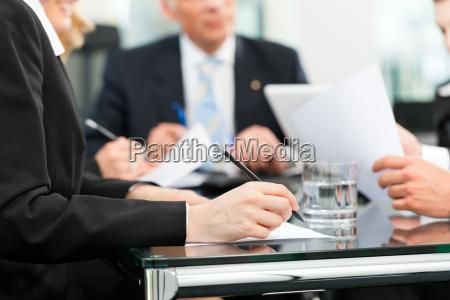 business besprechung mit arbeit am