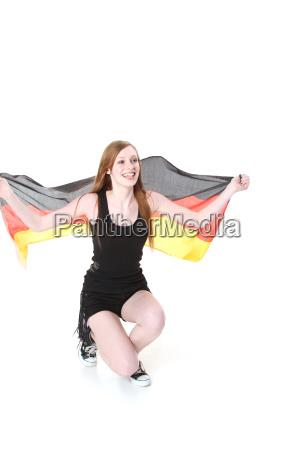 jubilant german fan
