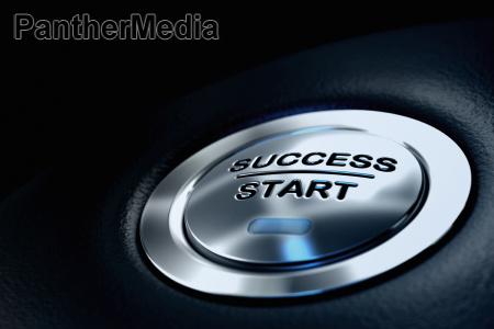 success start button business concept