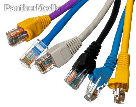 cat 5 kabel in verschiedenen farben