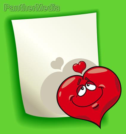 cartoon design with heart in love