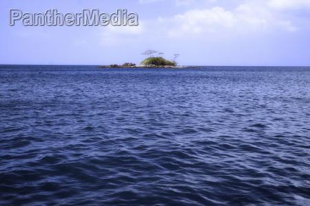 deserted tropical island