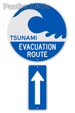 tsunami evacuation route