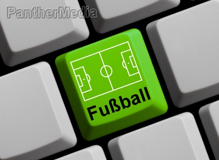 fussballfeld auf tastatur