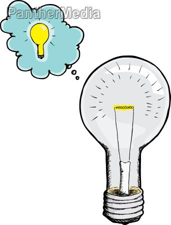 light bulb gets an idea