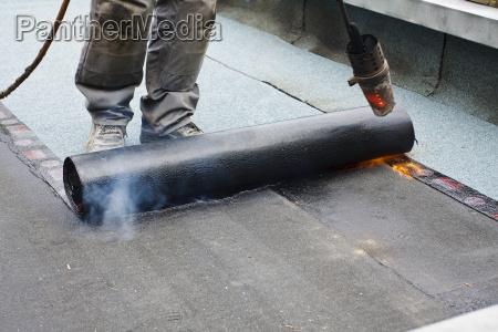 artesano quemador cubrir techador azotea obra